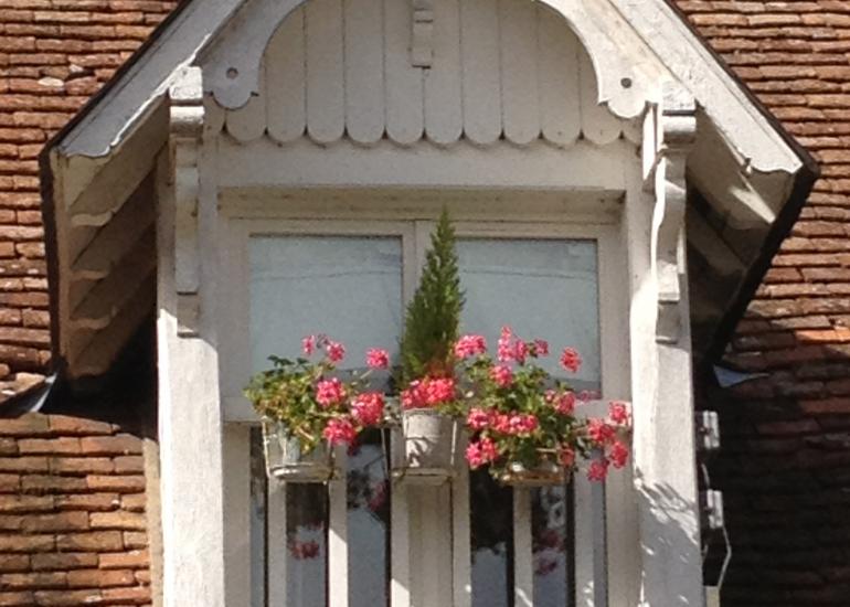 Fenêtre du séjour vue sur cour
