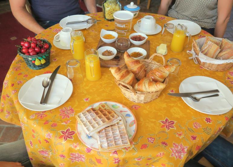Le petit déjeuner des Salamandres