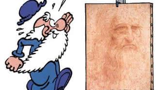 Exposition Léonard, la bande dessinée Turk de Groot et Zidrou à la Maison de la BD