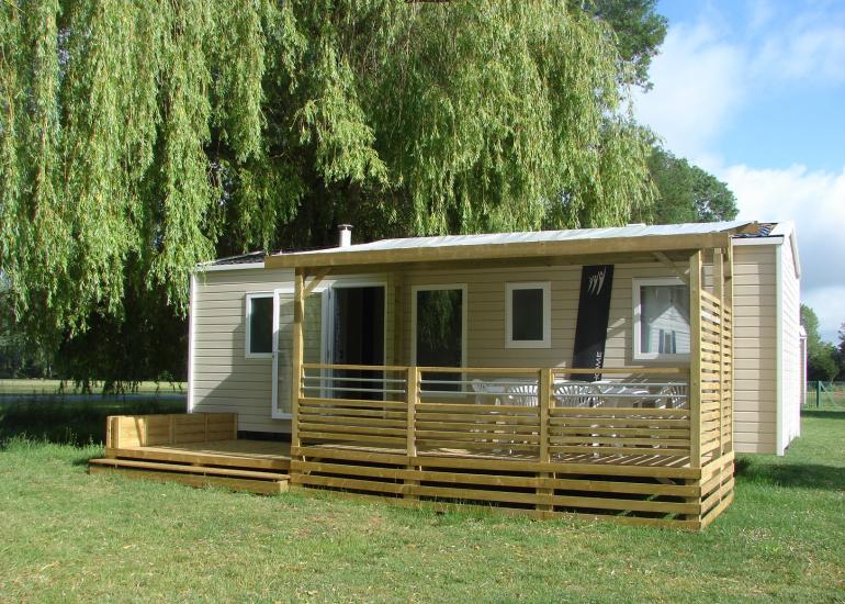 Mobil-home 3 chambres au camping Au Coeur de Vendôme