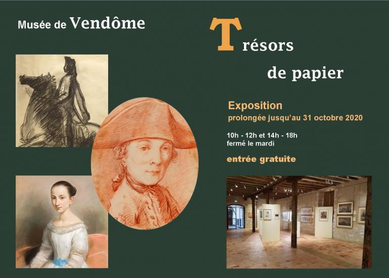 Musée de Vendôme - prolongation expo Trésors de papier