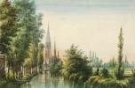 Trinite-Vendome-depuis-Grands-Pres-aquarelle-Louis-Moullin