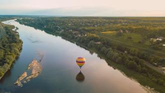 Compagnons du Vent, le voyage en montgolfière – Départ de Blois