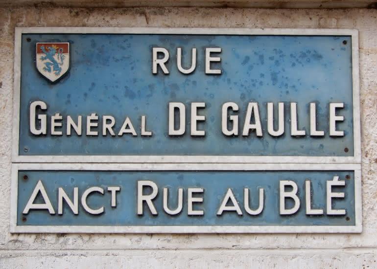 Plaque rue au blé - Vendôme